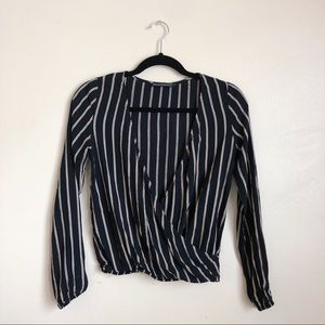 brandy melville striped long sleeve top